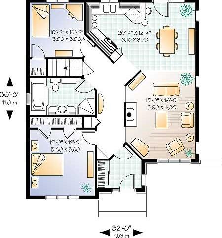 Чертеж проэкт дома план 1 го этажа дома