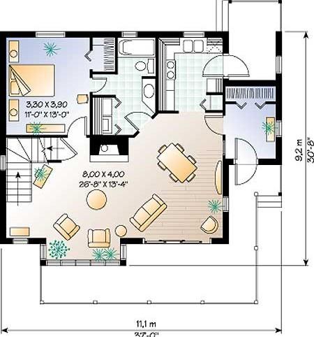 Проект дома w2542 план этажа проекты