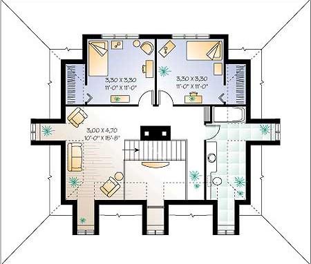 План 2 го этажа дома коттеджа