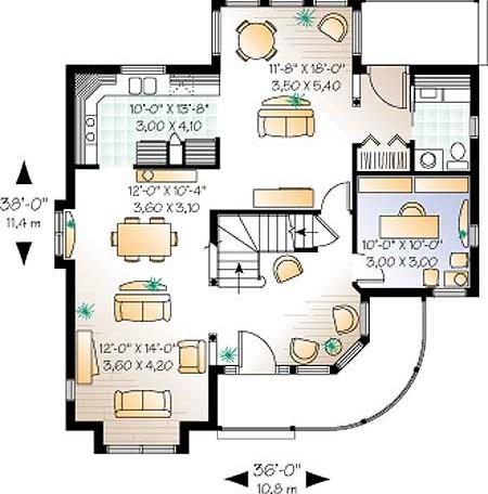 Дачного дома проект сельского дома