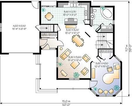 Дома пеноблок план 1 го этажа дома