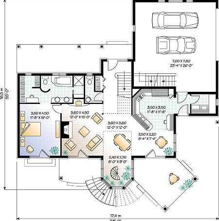 ПРОЕКТ ДОМА W2688: план этажа. Проекты домов, типовой ...