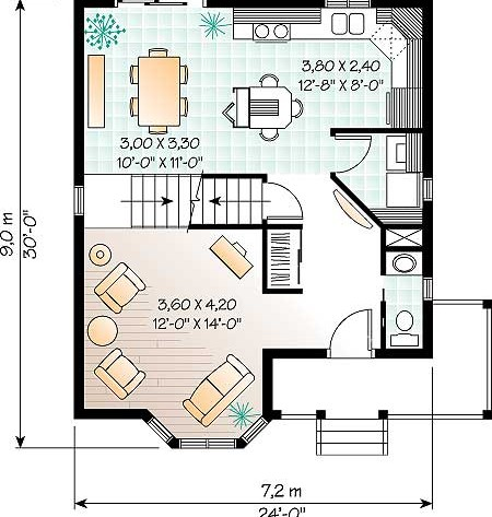 Дома план 1 го этажа дома коттеджа