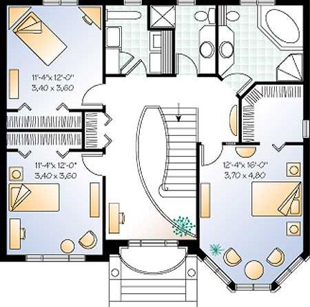 Чертеж проэкт дома план 2 го этажа дома