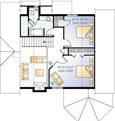 Дома план 2 го этажа дома коттеджа