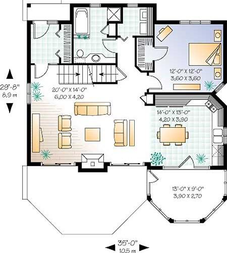 Проект дома план 1 го этажа дома