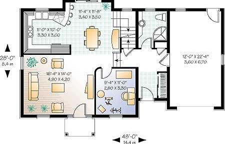 План 1 го этажа дома коттеджа
